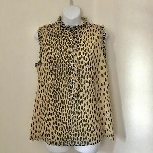 J.Crew Natasha leopard print blouse 8
